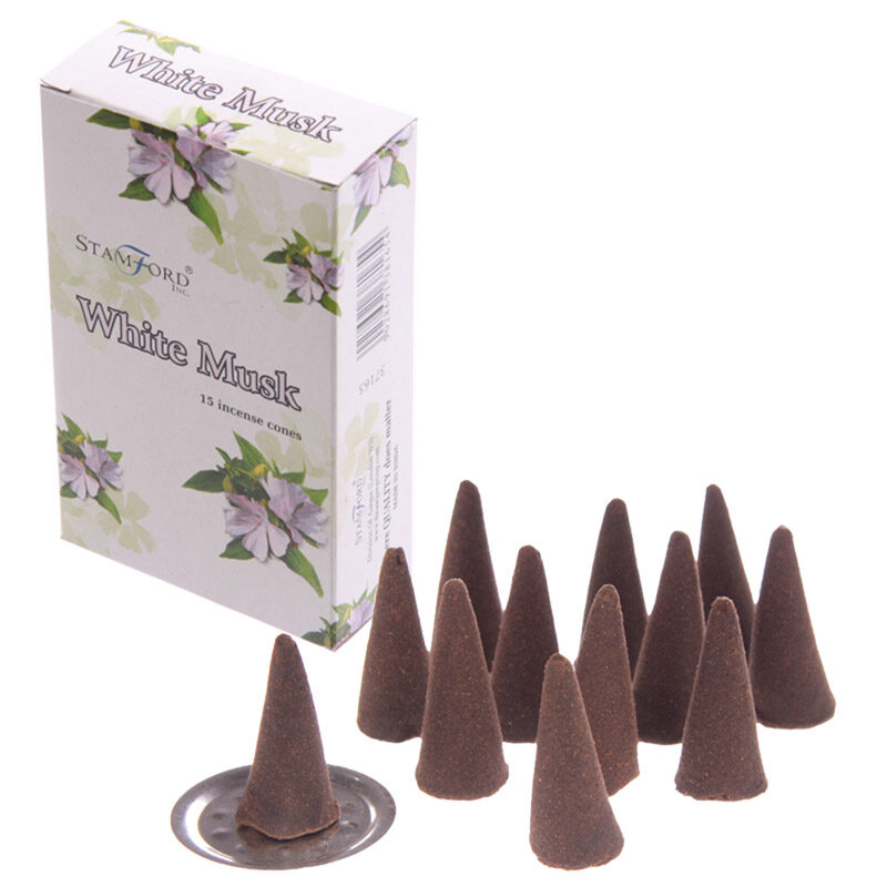 Stamford Hex Incense Cones - White Musk