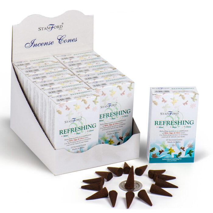 Stamford Hex Incense Cones - Refreshing